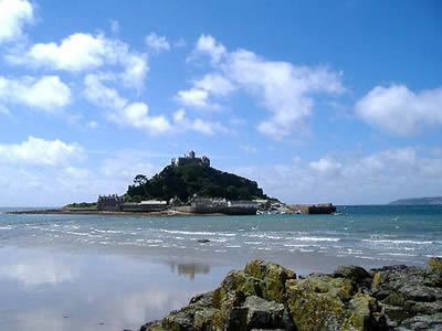 View of Mounts Bay looking towards St Michael's Mount