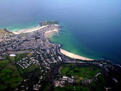 Aerial View of St Ives
